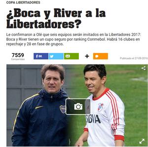 Boca e River Olé (Foto: Reprodução)