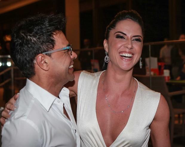 Graciele Lacerda e Zezé Di Camargo (Foto: Raphael Castello/AgNews)