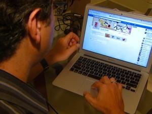 usar redes sociais no trabalho (Foto: Alfredo Morgante/EPTV)