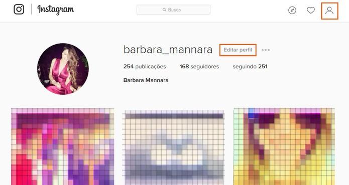 Acesse seu perfil no Instagram e edite as informações pelo navegador (Foto: Reprodução/Barbara Mannara) (Foto: Acesse seu perfil no Instagram e edite as informações pelo navegador (Foto: Reprodução/Barbara Mannara))