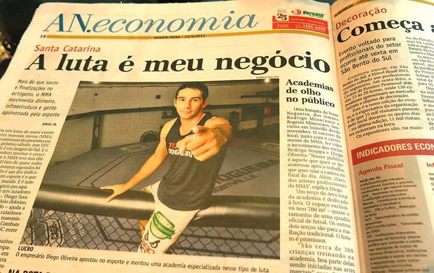 jornal UFC Santa Catarina destaque (Foto: Ivan Raupp)