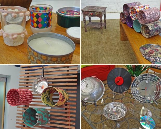Relógios de PVC e plantas feitas de PET: aproveite as dicas e reforme sua sala (Foto: Mais Você / TV Globo)