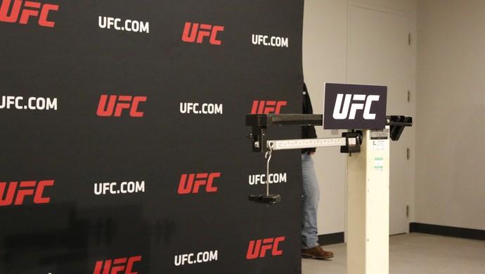 balança vazia, pesagem UFC 209 MMA (Foto: Evelyn Rodrigues)