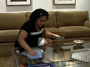 Empregada doméstica  (Foto: reproducao globo news)