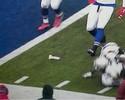 Torcedor dos Bills arremessa vibrador no gramado na vitória dos Patriots