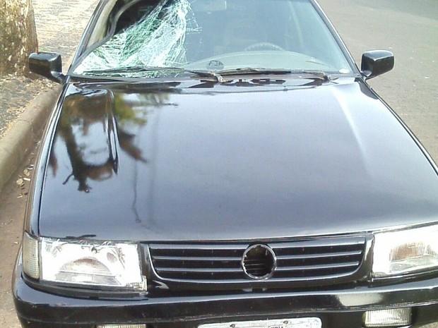 Motorista fugiu após a atropelar o jovem, mas foi localizado  (Foto: Divulgação/ Polícia Militar)