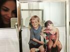 Sthefany Brito resgata foto antiga com o irmão, Kayky Brito: 'Saudade'