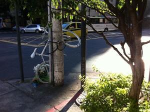 Esquinas das avenidas General San Martin e Bartolomeu Mitre marcam local do atropelamento de diretora da TV Globo. (Foto: Mariucha Machado/G1)