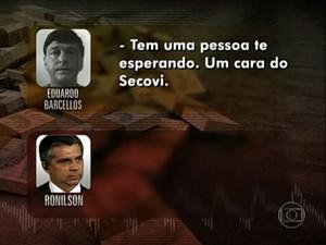 Diálogo aponta para suposto apoio do Secovi ao esquema; sindicato nega (Foto: Reprodução/TV Globo)