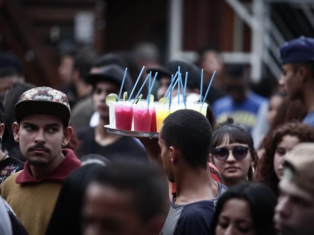 Show do grupo CriminalRap no Palco Jardim Helena, Zona Leste de São Paulo, na Virada Cultural (Foto: Caio Kenji/G1)