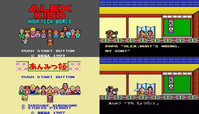 Alex Kidd: High-Tech World era um dos muitos jogos reaproveitados do Master System (Reprodução/Genki Video Games)