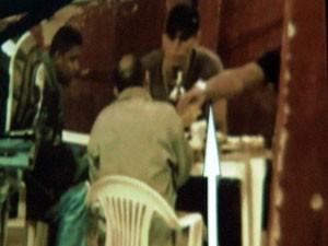 Vídeo mostra William da Rocinha negociando com o traficante Nem (Foto: Thamine Leta G1/ Reprodução Polícia Civil)