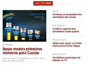 Principais cidades do RS ganham página com propostas de candidatos à prefeitura (Foto: Reprodução/ G1 RS)