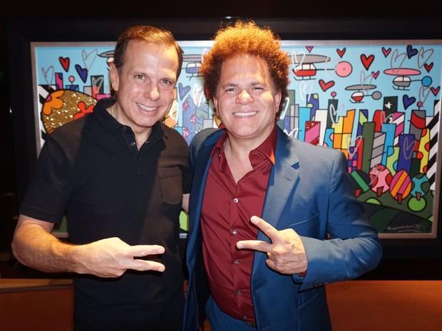 João Doria e Romero Britto se encontraram em Miami, nos Estados Unidos (Foto: Divulgação/Assessoria João Doria)