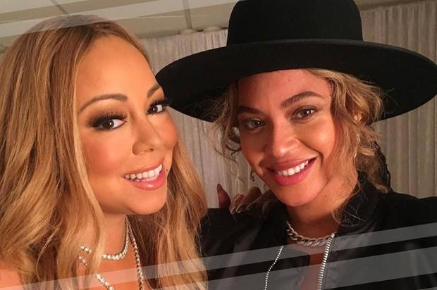 Mariah Carrey e Beyoncé (Foto: Reprodução/Facebook)