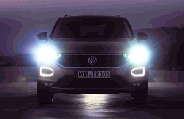 Teaser do Volkswagen T-Roc revela detalhes quando a imagen é clareada (Foto: Reprodução)