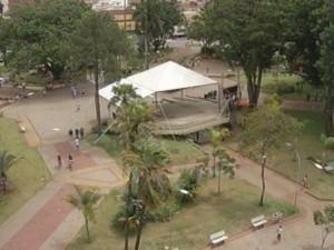 Evento será na praça Melo Peixoto (Foto: Reprodução/TV TEM)