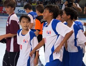 Santa Cecília Objetivo Cubatão Copa TV Tribuna de Futsal Escolar (Foto: Bruno Gutierrez)