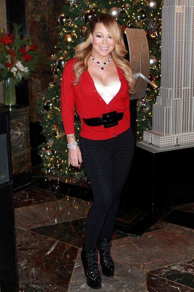 Mariah Carey em evento em Nova York, nos Estados  (Foto: AKM-GSI/ Agência)