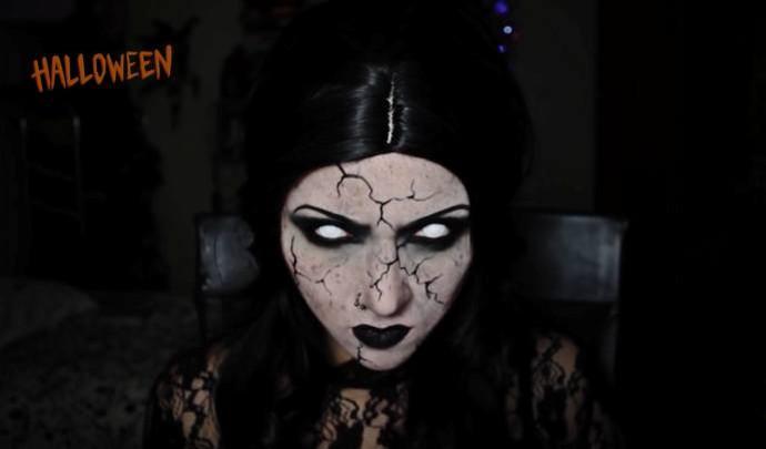 Aprenda a fazer maquiagem assustadora para o Dia das Bruxas (Foto: Reprodução / TV Diário )