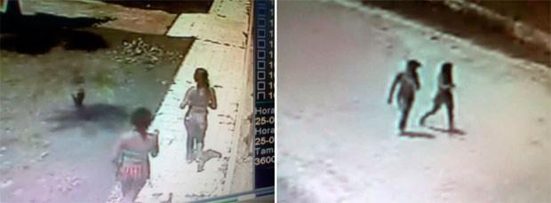 Imagens captadas pelas câmeras de segurança mostram duas jovens deixando a casa onde empresário foi morto em Macaíba (Foto: Reprodução/G1)