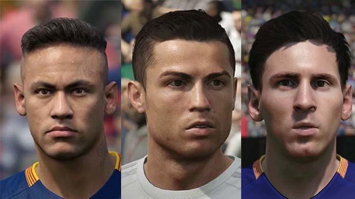 Neymar, Messi e Cristiano Ronaldo: veja quem é o melhor em Fifa 16 e PES 2016 (Foto: Reprodução/ Murilo Molina)