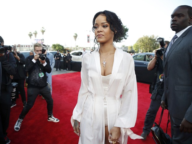 Rihanna no MTV Movie Awards em Los Angeles, nos Estados Unidos (Foto: Lucy Nicholson/ Reuters)