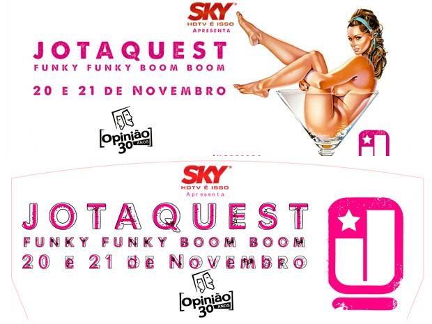 Montagem campanha Jota Quest (Foto: Bar Opinião/Reprodução)