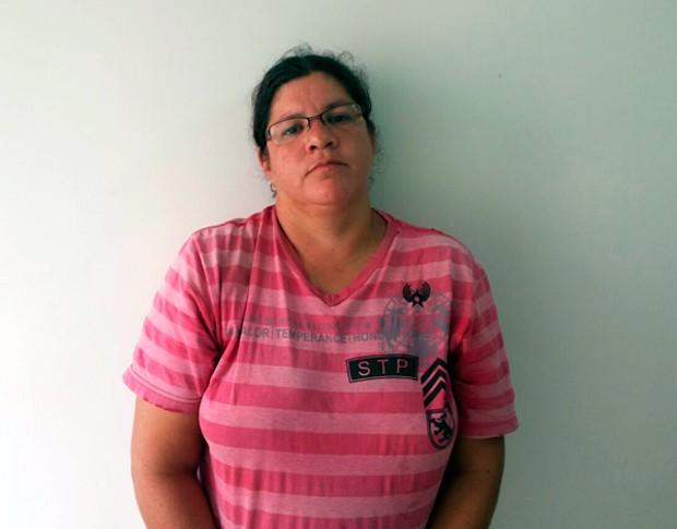 Aline Cristina da Silva, de 36 anos, confessou o crime em depoimento à polícia (Foto: Divulgação/Polícia Civil do RN)