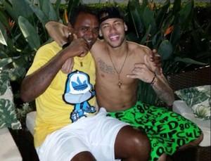 Kleber Pereira e Neymar (Foto: Arquivo Pessoal/Kleber Pereira)
