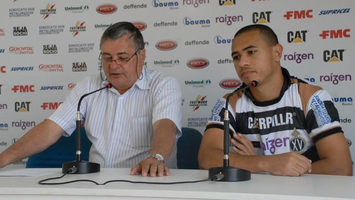 Renato Bonfiglio Júlio Cezar XV de Piracicaba Nhô Quim (Foto: Fernando Galvão / XV de Piracicaba)