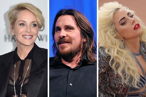 Sharon Stone, Christian Bale e Lady Gaga são conhecidos por já terem tratado mal os seus funcionários (Foto: Getty Images)