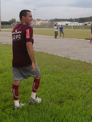 Felipe, atacante do América-MG na pré-temporada em Itaúna (Foto: Cleber Corrêa/GLOBOESPORTE.COM)
