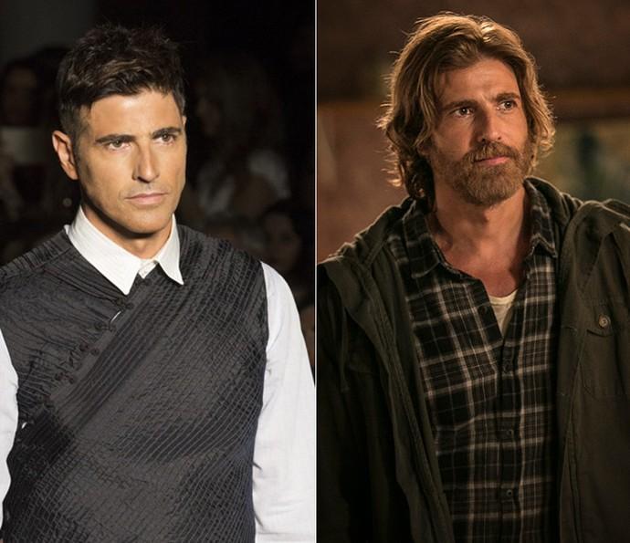 Antes e depois: Reynaldo Gianecchini em 'Verdades Secretas' e 'A Lei do Amor' (Foto: Gshow)