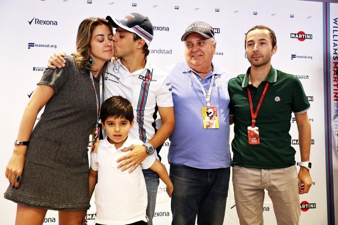 Felipe Massa na coletiva do anúncio da aposentadoria