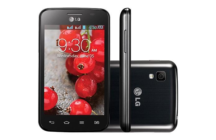 LG L4 II Trichip tem entrada para três chips de operadora e Android Jelly Bean (Foto: Divulgação/LG)