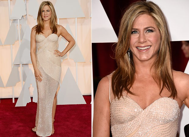 Jennifer Aniston, de Atelier Versace (Foto: Getty Images)