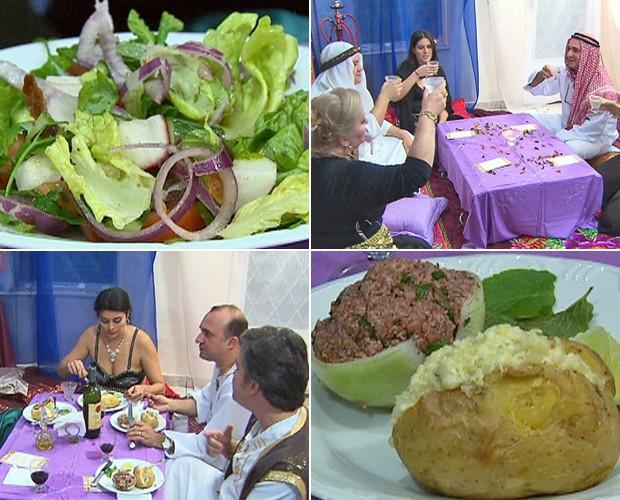 Jantar Árabe da Mônica é o primeiro do Jogo de Panelas III (Foto: Mais Você / TV Globo)