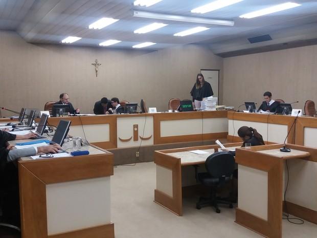 Julgamento acontece no pleno do Tribunal de Justiça do Amapá (Foto: John Pacheco/G1)