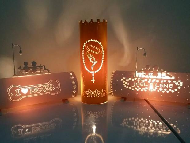 luminárias personalizadas, PVC, Amapá, Macapá, (Foto: DiCavalcanti/Divulgação)