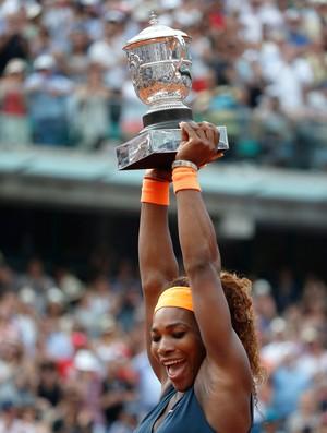 serena williams campeã roland garros tenis final (Foto: AFP)