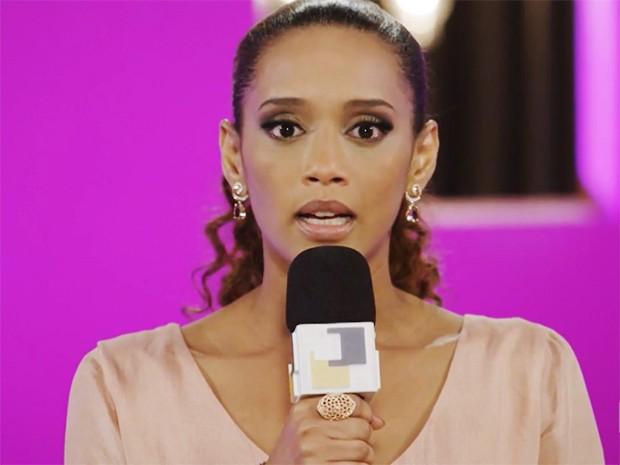 Verônica Monteiro, no palco do 'Parker mulher' (Foto: Parker TV)