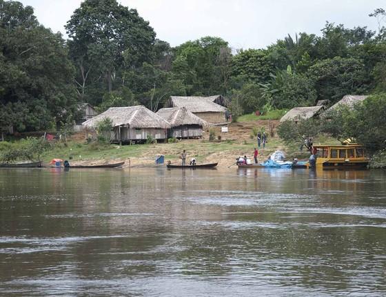 Comunidade de São Lourenço, dentro da Reserva Extrativista Guariba-Roosevelt, no noroeste de Mato Grosso (Foto: Emerson de Jesus/Pacto das Águas)