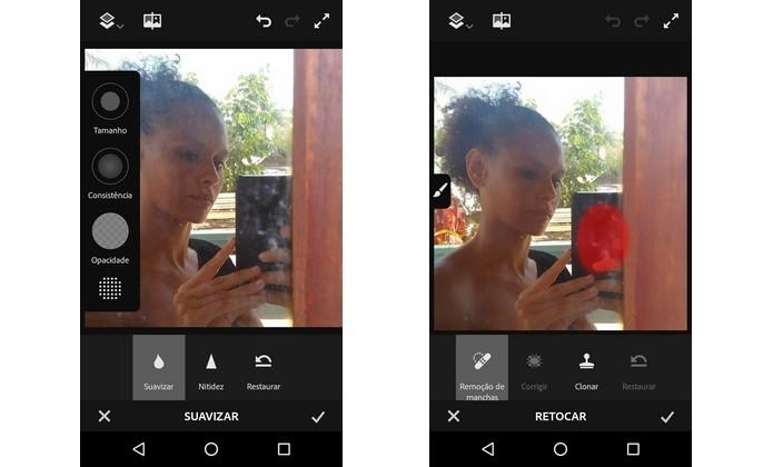 Photoshop Fix traz ferramentas avançadas de edição para celulares (Foto: Reprodução/Raquel Freire)