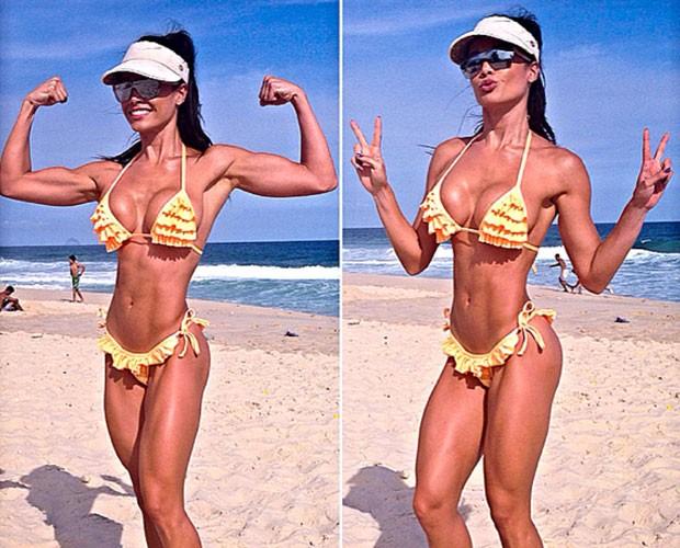 Fernanda D'avila faz cliques na praia  (Foto: Arquivo Pessoal)