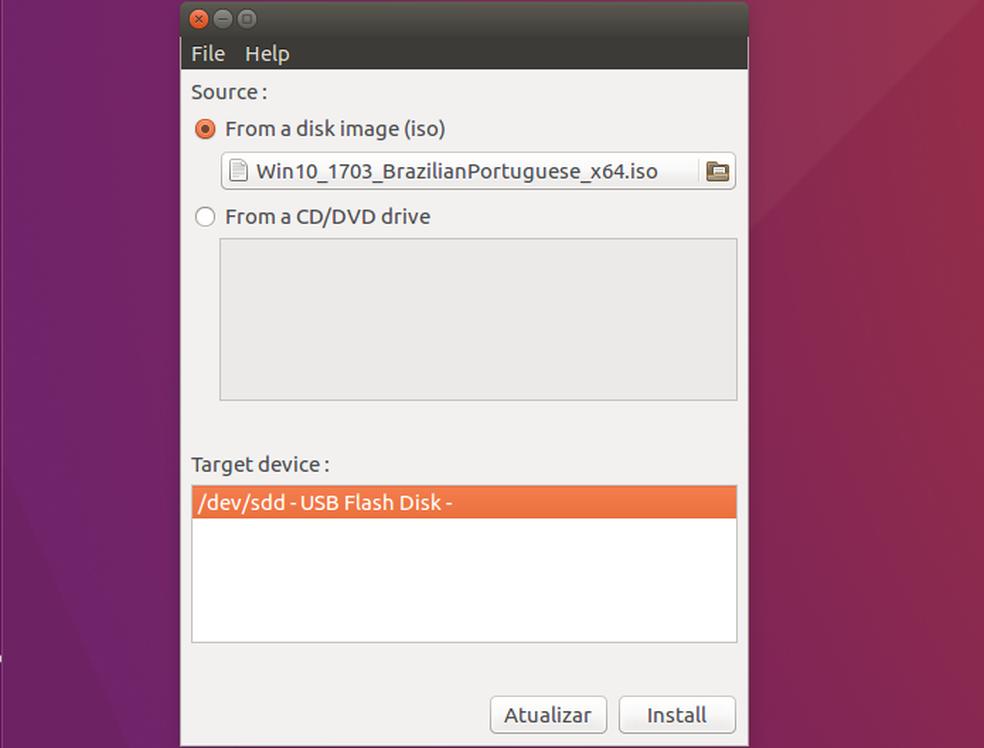 Veja como fazer para criar um pendrive bootável do Windows no Linux (Foto: Edivaldo Brito/TechTudo)