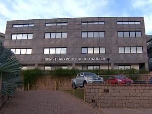 Sede do Ministério Público do Trabalho em Campinas (Foto: Reprodução EPTV)