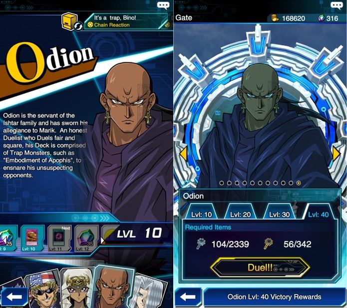 Yu-Gi-Oh! Duel Links: Odion é liberador após 300 cartas armadilhas serem ativadas (Foto: Reprodução/Vinícius Mathias)
