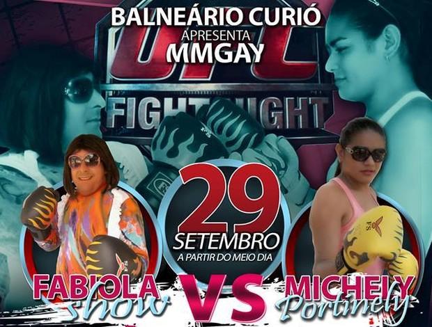 Fabíola Show e Michelly Portinelly disputam cinturão gay em Sena Madureira (Foto: Divulgação)