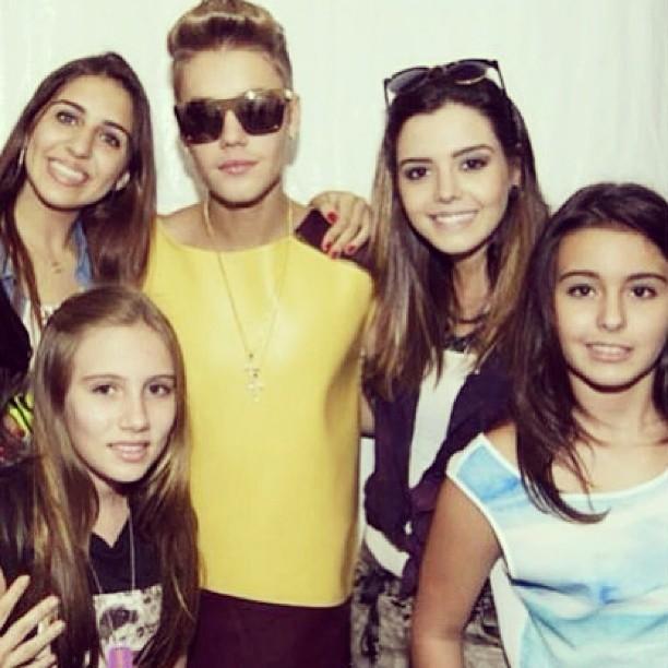Giovanna Lancellotti e Justin Bieber (Foto: Instagram / Reprodução)